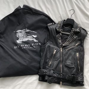 Burberry Prorsum SS11 Studded Leather Biker Vest